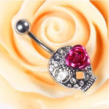 New Crystal Rhinestone Belly Button Ring Navel Bar Body Piercing Jewelry