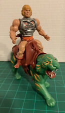 vintage He-man Battle Armor And Battle Cat Lot Of 2 Masters Of The Universe MOTU