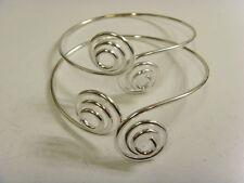 2 vintage upper arm spiral bracelets lot belly dance retro steam punk larp 48896