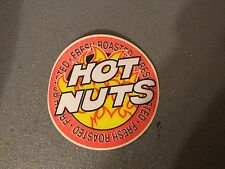 new old stock Hot Nuts self adhesive Decal includes 2 stickers