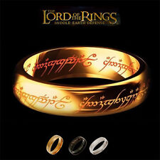 The Lord Of The Rings  Hobbit Movie Ring Golden Color Ring Rare .FANCY & UNIQUE