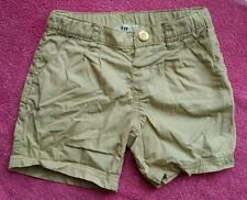 h&m girl 2-3 years brown gold glittery shorts short trousers summer