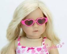 "Heart Shaped Plastic Sunglasses HOT PINK fit 18"" American Girl Doll eyewear"