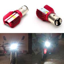 BA20D LED Bulb Motorcycle Headlamp 16W Hi/Low Beam Headlight 6000K White DC 12V