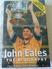 JOHN EALES RUGBY UNION SIGNED AUTOBIOGRAPHY AUSTRALIA WALLABIES WORLD CUP CHAMP