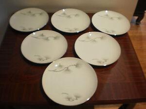 SET OF 6 VINTAGE JAPANESE NAGOYA CHINA PORCELAIN BREAD & BUTTER PLATES