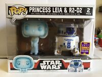 Funko POP! Star Wars PRINCESS LEIA & R2D2 SDCC 2017 Summer Con Exclusive 2 Pack