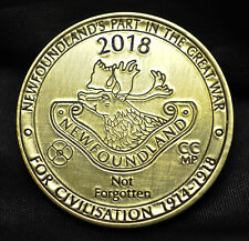 2018 Newfoundland's Part in the Great War - Brass Medal