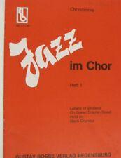 vocal score JAZZ IM CHOR heft 1 , BE 47100