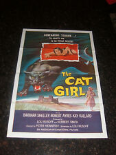 """THE CAT GIRL Original 1957 Movie Poster, 27"""" x 41"""", C8.5 Very Fine to Near Mint"""