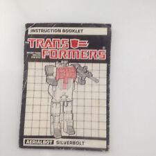Transformers Original G1 Aerialbot Silverbolt Instructions Booklet for Superion