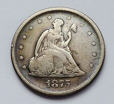 1875-S U.S. LIBERTY SEATED ~ TWENTY / 20 CENT PIECE ~ VERY GOOD PLUS CONDITION