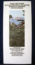 TSS FAIRSEA Brochure -- 1974 Mexican Riviera Cruises -- Sitmar Cruises