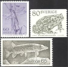 Sweden 1979 Dragonfly/Pike/Toad/Fish/Insects/Animals/Nature 3v set coil (n24291)