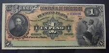 DOMINICAN REPUBLIC BANKNOTE 1 Peso, Pick S103 AU- 188X (Compañia de Credito)