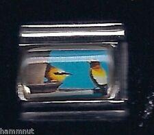 Finch birds Wholesale Italian Charm 9Mm K12