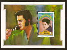 Gambia 1191 Elvis Presley stamp sheetlet - issued in 1992 - mint never hinged