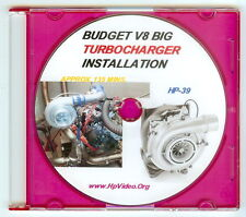 "Budget Huge 504 HP T4 Turbo Turbocharger ""How to"" Video! SBF SBC V8 Video DVD"