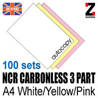 100 sets x A4 Carbonless NCR Duplicate Print Paper WYP