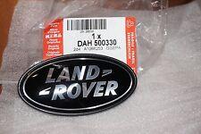 Genuine Land Rover / Range Rover - Black & Silver Rear Tailgate Badge DAH500330