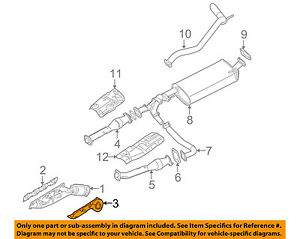 NISSAN OEM Exhaust Manifiold-Manifold Heat Insulator Cover 165907S000