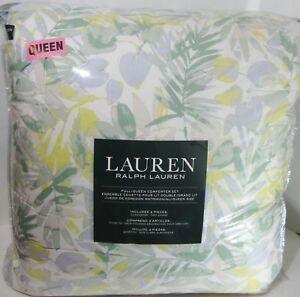 Ralph Lauren Palm Beach Comforter Set 3 Piece Full/Queen