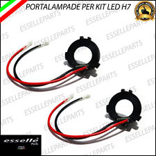COPPIA ADATTATORI PORTALAMPADE PER KIT LED H7 PER VW GOLF 7, POLO 6R, SCIROCCO