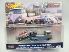 Hot Wheels #1 TEAM TRANSPORT VW T1 Transporter and Porsche 356 Speedster 1/64