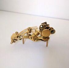 "Brass Sextant 5"" Nautical Navigation Tool Vintage Reproduction Desk Shelf Decor"