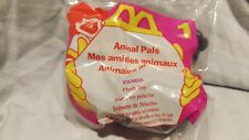1997  McDonalds Happy Meal Toy - animal pals panda plush toy # 1 kids 3+