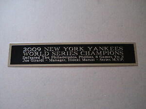 New York Yankees 2009 World Series Nameplate For A Baseball Jersey Case 1.5 X 8