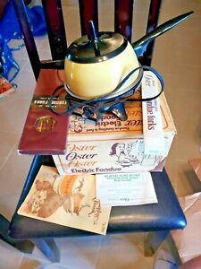 Vintage Oster Fondue Set w/Original Box - Harvest Gold