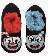 Cuphead And Mugman Cozy Fluffy Slipper Socks Anti Slip