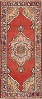 Muted Medallion Anatolian Turkish Runner Rug Hand-Knotted Home Decor Carpet 3x8