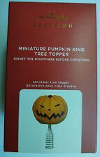 New Listing2020 Nightmare Before Christmas Pumpkin King Tree Topper Mini Hallmark Ornament