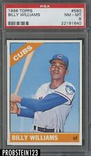 1966 Topps #580 Billy Williams Chicago Cubs HOF PSA 8 NM-MT