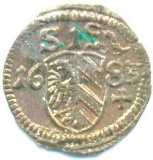 Nürnberg-Stadt, eins. Pfennig 1683 in vz/st
