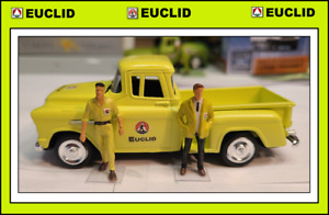 1/43 1955 Chevrolet Stepside Pick Up Truck + 2 Custom Figs - in EUCLID Colors !!