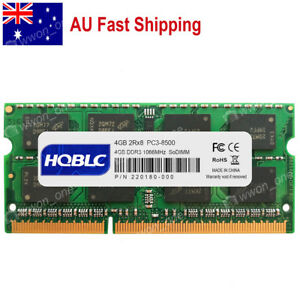 AU 4GB 8GB 16GB DDR3 PC3-8500 DDR3-1066Mhz 204Pin Sodimm Laptop Memory CL1.5V