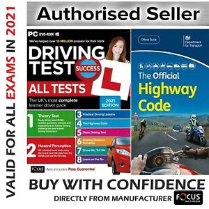 2021 Driving Theory Test and Hazard CD DVD + Official DSA Highway Code Book DVLA