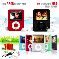 "iPod Style 1.8"" LCD 8GB 16GB 32GB MP3 MP4 Music Video Media Player With FM Radio"