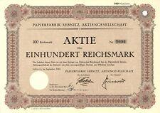 Aktie Papierfabrik Sebnitz AG 100 RM 1942 Sebnitz