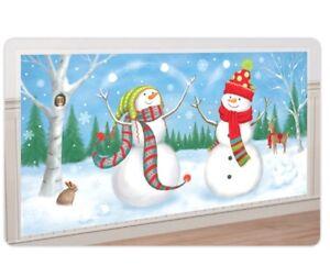 5ft Giant Snowman Banner Scene Setter Xmas Winter Wonderland Party Decorations