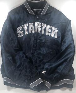 Starter Tony Romo #9 Dallas Cowboys Men's Button Up Satin Bomber Jacket Size XL