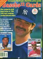 Apr 1986 Baseball Cards Magazine (with 6 insert cards) - Chris Sabo Rookie