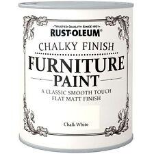 Rust-Oleum Craie Crayeux Meuble Peinture Usé Chic 125ml Blanc Mat