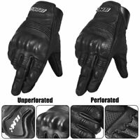 Goatskin Leather Motorcycle Gloves for Men Women ATV Motorbike Racing Gloves