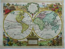 Antique Map of the World by George Le Rouge 1748