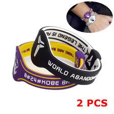 NBA Kobe Bryant Wristband Bracelet Silicone Wrist Band Rubber Fun Run Mamba 2pcs