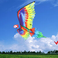 3D Parrot Kite Outdoor Fun Sports Beach Single Line Kites Children Kids Gift
